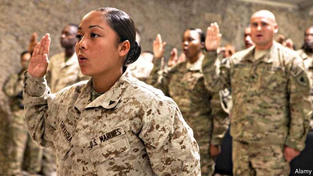 The path to citizenship for those who put on American uniform has narrowed